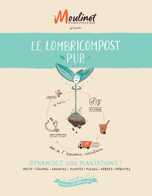 LOMBRICOMPOST PUR - 2,5 KG RECTO